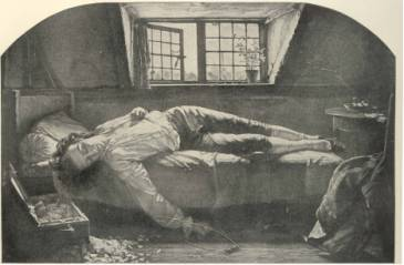 The Death of Thomas Chatterton ( by Henry Wallis )